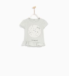 ZARA - SALE - PATCH AND FRILL T-SHIRT
