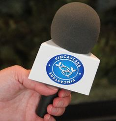 """The mic flag for my aquarium podcasts -- called """"Fincasts."""""""