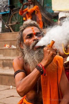 A Hindu Pilgrim at Varanasi, India - My Your Shot on Nat Geo. It's one of my favourite photos from India.