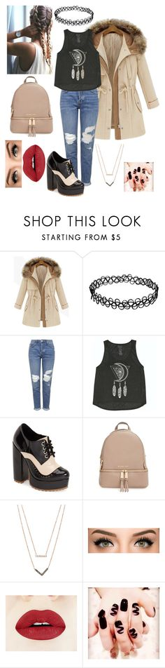 """""""Geen titel #358"""" by jennamockingjay ❤ liked on Polyvore featuring Amuse Society, Topshop, Billabong, Jeffrey Campbell, MICHAEL Michael Kors and Michael Kors"""