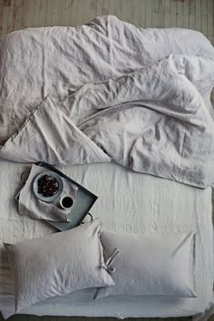 Grey linen duvet cover. Soft stonewashed pure linen. by MagicLinen