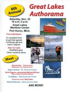 Meet and greet maritime authors and video producers from around the Great Lakes.