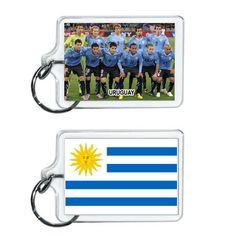 Uruguay Soccer Flag 2014 Team Player Acrylic Keychain 2 x 1 | www.balligifts.com