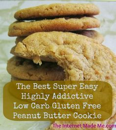 Peanut Butter Cookies, Gluten Free Recipes, Low Carb Recipes, Flour-less Cookies,