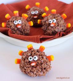 Turkey Krispies Treats | Make these fun snacks with your kiddos!