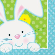 Spring Easter Bunny Party Napkins | Easter Party Supplies