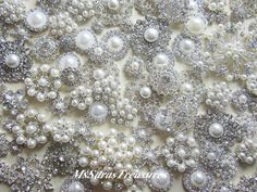 SALE  75  Assorted Crystal Embellishment Metal by MsSarasTreasures
