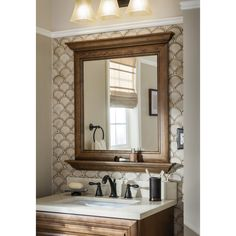 bathroom mirrors lowes. Shop Diamond Ballantyne 30 in W x 34 H Mocha with Ebony Glaze  Bathroom MirrorsLowes allen roth 24 Oil Rubbed Bronze Rectangular