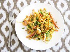 "Curried Chickpea & Veggie ""Noodle"" Salad"