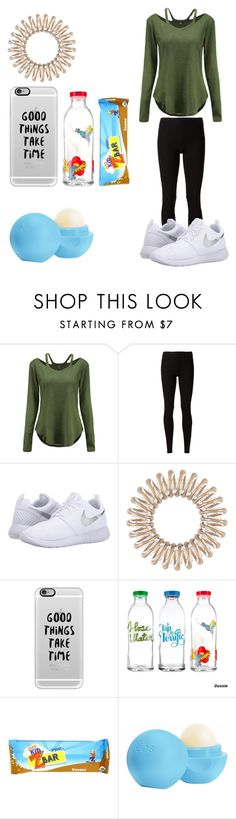 """Good things take time"" by bethanymotaislife-1 ❤ liked on Polyvore featuring Rick Owens Lilies, NIKE, Invisibobble, Casetify, Eos, nike, eos and zbar"