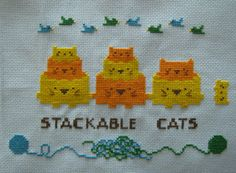 """Free Pattern """"Stackable Cats"""" so purrfect!"""