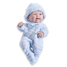 Mini La Newborn Boutique  Realistic 9.5 Anatomically Correct Real Boy Baby Doll dressed in BLUE  All Vinyl Open Mouth Designed by Berenguer  Made in Spain Review