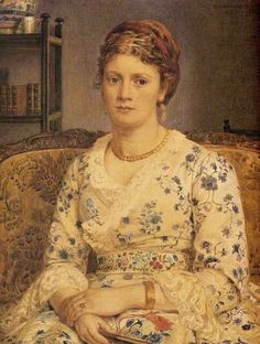 Edward John Poynter - Portrait of Mrs J P Heseltine, 1872