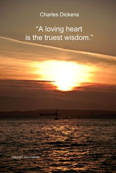 An always timely #quote from British author #CharlesDickens and a sunset over #PugetSound in the #Seattle area. If this #quotograph resonates with you feel free to #repost for others to enjoy.