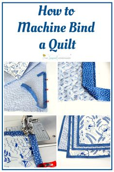 Outstanding 10 Sewing tutorials projects are offered on our web pages. look at this and you wont be sorry you did. Quilting For Beginners, Sewing Projects For Beginners, Quilting Tips, Quilting Tutorials, Sewing Tutorials, Quilting Projects, Machine Binding A Quilt, Quilt Binding Tutorial, Sewing Machine Quilting