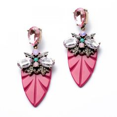 Lovely Pink Multigem Earrings
