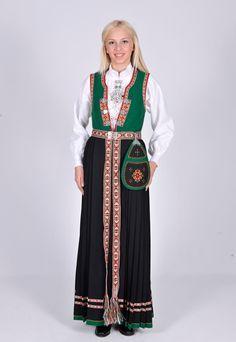 SUNNFJORDBUNAD Så tidlig som i 1914 startet Olina Fossheim arbeidet ... Folk Costume, Costumes, Traditional Dresses, Norway, Scandinavian, Floral Design, Bomber Jacket, Jackets, Fashion