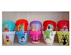 macetas decorativas pintadas a mano diseños gato perro n 14