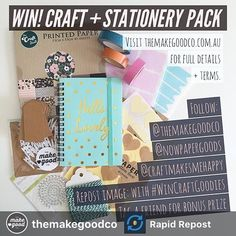 Pop on over to @themakegoodco or @nowpapergoods to enter peeps. What a sweet Mother's Day treat this would be to win!  Repost: G I V E A W A Y //  Thanks to everyone who has already entered - remember your account must be set to Public for the duration of the comp so I can see your entry. If you haven't entered... I have a gorgeous craft and stationery pack to give away valued at $40 AUD. Follow all the rules below to enter PLUS tag a friend for the chance to win BONUS GOODIES as well! All…