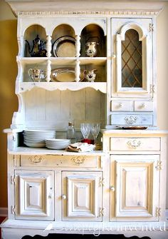 about Vintage-colour wash kas on Pinterest | Gray desk, China cabinet ...