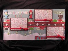 Courtney Lane Designs: Winter Time fun layout made using Everyday Paper Dolls, Don Juan, and Hannah Montana.