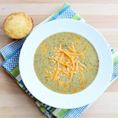 A secret ingredient makes a protein-packed meal out of this tasty Broccoli Cheddar Soup!