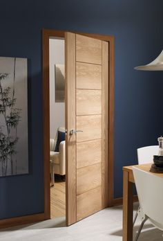 Palermo Pre-Finished Internal Oak Door Lifestyle Roomshot