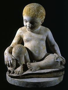 Excavated From Pompeii  --  Fountain of a Child with a Dolphin  --  1st Century  --  Roman  --  Currently on display @ San Nicolo  --  Ravena, Italy