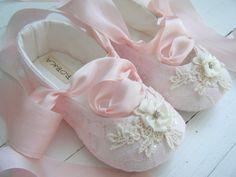 Emma Ballet Shoes Baby Girl Ballet Toddler Ballet by BobkaBaby, $50.00