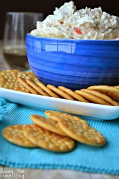 Crock Pot Crab Dip - a simple and delicious party appetizer from Lemon Tree Dwelling