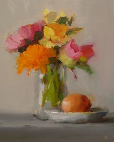 SUSAN NALLY. Mixed Bouquet with Egg