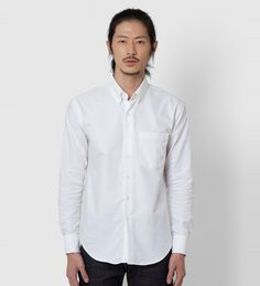 Naked and Famous White Oxford Slim Shirt