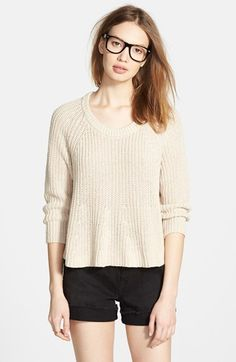 Madewell Swing Crop Sweater available at #Nordstrom