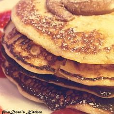 Pancakes with strawberries and chocolate!