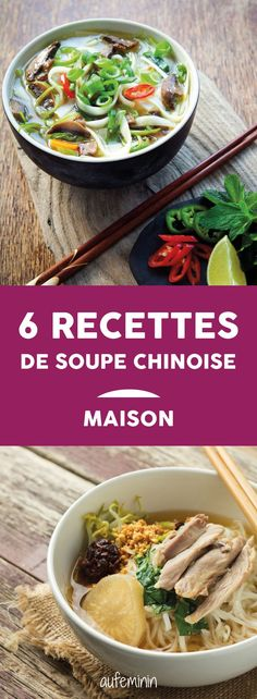Chinese soup: how to make a Chinese soup? Recipe - Chinese soup: how to make a Chinese soup? The recipe for trendy homemade Chinese soup! Chinese Soup Recipes, Asian Recipes, Healthy Recipes, Ethnic Recipes, Good Food, Yummy Food, Wie Macht Man, Exotic Food, Asian Cooking