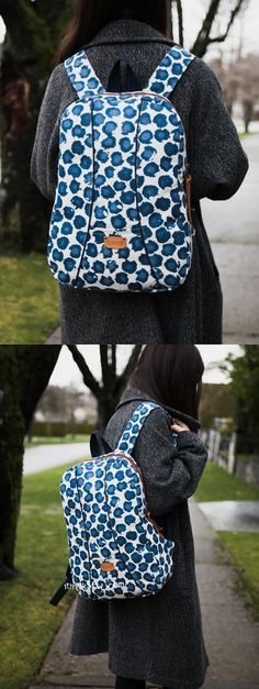 Shelly Backpack PDF Sewing Pattern - ithinksew.com