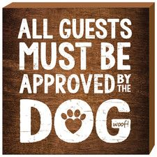 Dog Approved Wall Decor