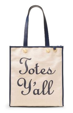 Totes Y'all Canvas Tote