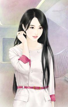 @爱你不是两三天》采集到时尚美女,现代手绘(684图)_花瓣插画/漫画