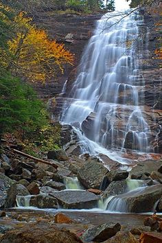 Our Creative Director, David, loves hiking this beautiful waterfall in North Conway, NH