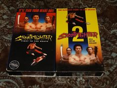 Shootfighter 1 & 2 (VHS, 1993) Rare OOP Bolo Yeung/Kill Fight Death *NOT ON DVD*