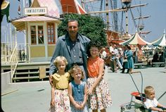 """Awesome picture from Reddit: """"It turns out my mom went to Disneyland the week it opened in 1955"""" I wish this had been me getting my picture taken with Walt Disney! http://i.imgur.com/ok5XGpb.jpg"""