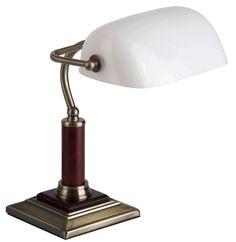 BANKIR - svietidlo na pracovný stôl antický bronz-biele
