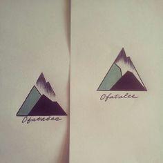 geometric mountain tattoo - Google zoeken