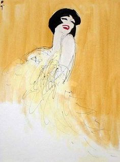 Galliano's Inspiration for Christian Dior Couture Spring 2011 Collection: René Gruau – Swing Fashionista Fashion Illustration Vintage, Illustration Sketches, Fashion Illustrations, Portrait Illustration, Art Illustrations, Vintage Posters, Vintage Art, Vintage Paintings, Jacques Fath
