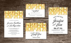 Posted by @newkoko2020 Wedding Invitation Suite watercolor by aticnomar on @creativemarket