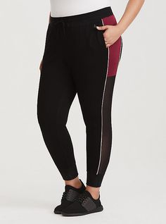eb45f8b80ec Black   Red French Terry Active Jogger