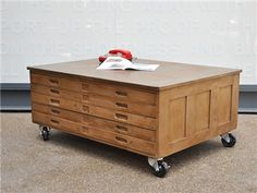 Plan chest coffee table... two for one!