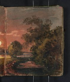Joseph Mallord William Turner 'Sunset over a River', 1796–7