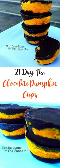 Chocolate Pumpkin Cups | Confessions of a Fit Foodie